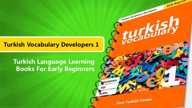 Turkish Vocabulary Developers 1 Turkish Language Learning Books For Early Beginners