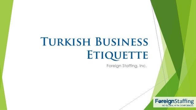 Turkish Business Etiquette
