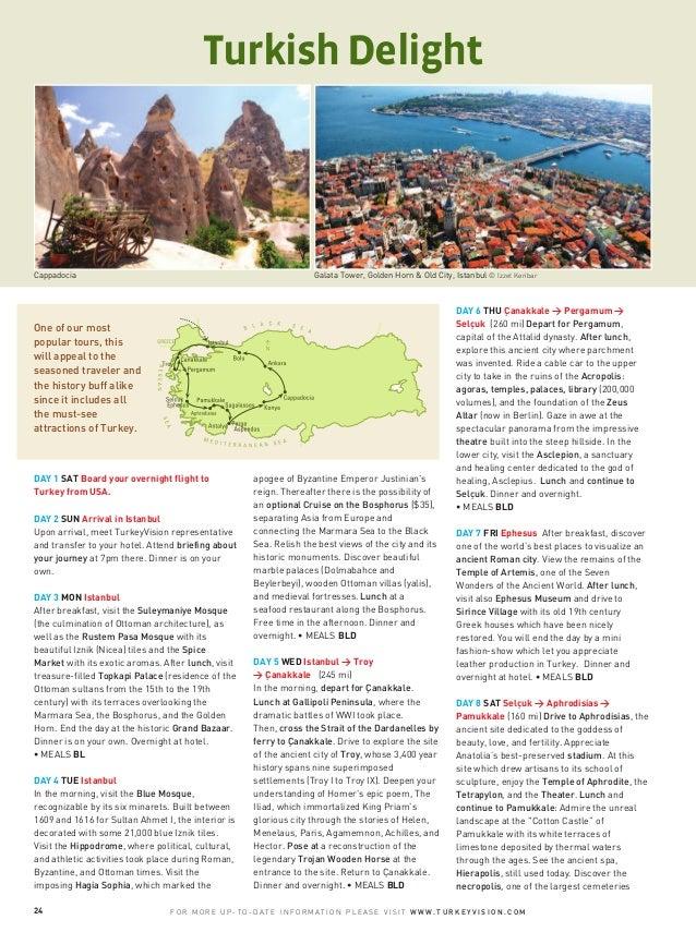 CappadociaDAY 1 SAT Board your overnight flight toTurkey from USA.DAY 2 SUN Arrival in IstanbulUpon arrival, meet TurkeyVi...