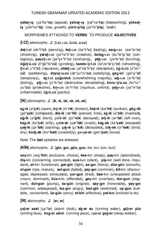 A detailed turkish grammar written in english 35 stopboris Images