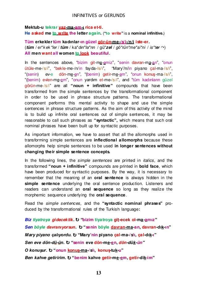 Turkish infinitives and english gerunds or infinitives 2 13 expocarfo
