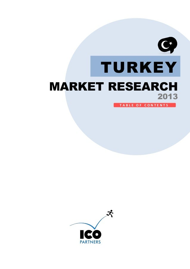 TURKEY MARKET RESEARCH  2013  TABLE OF CONTENTS