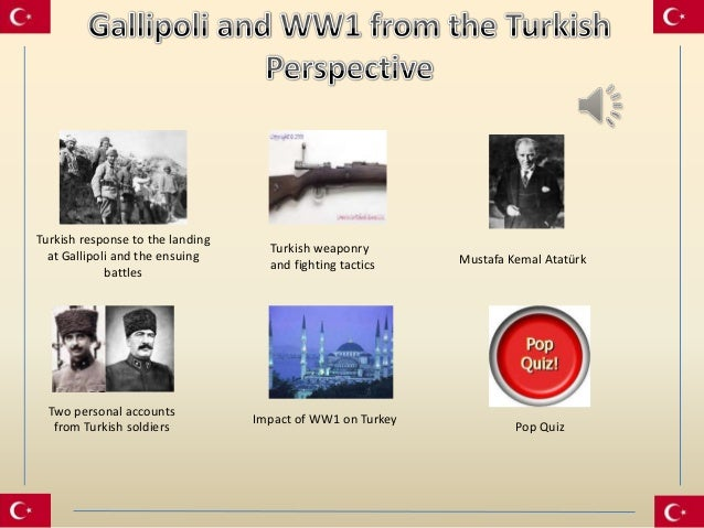 Turkish response to the landing                                    Turkish weaponry  at Gallipoli and the ensuing         ...