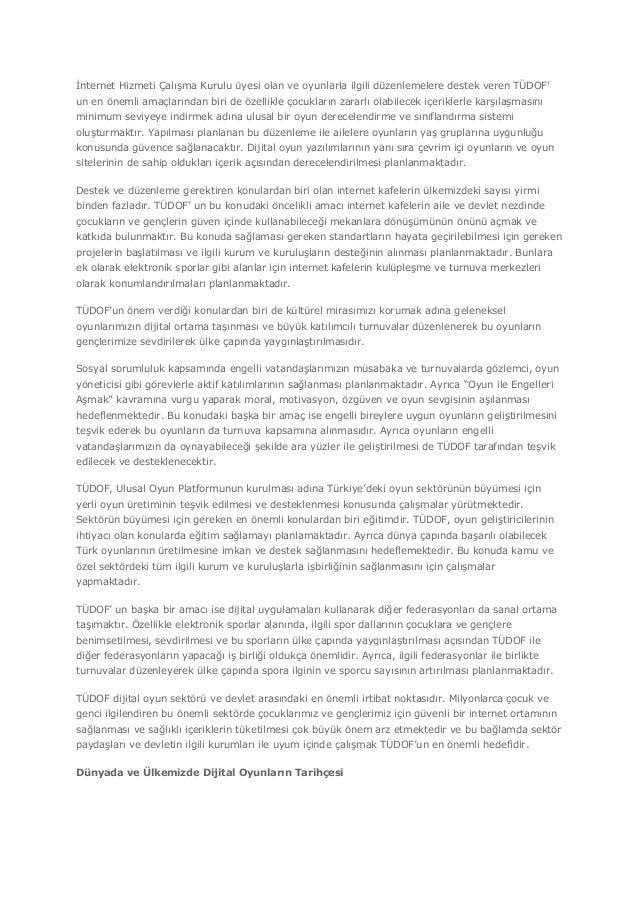 Türkiye ve Dunyada Dijital Oyun Sektoru Hakkinda Genel Rapor Slide 2