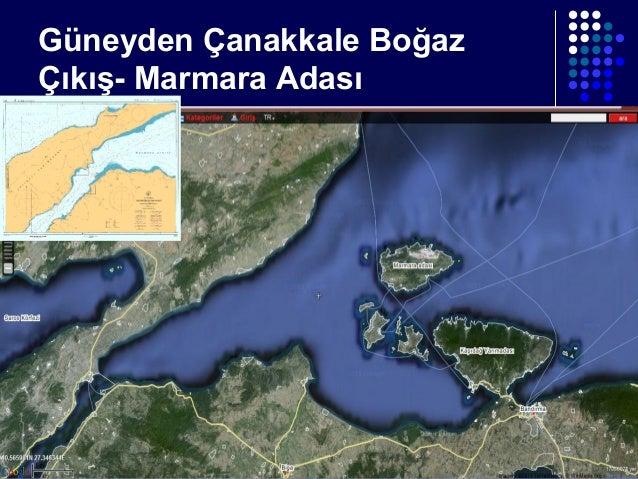 Güneyden Çanakkale Boğaz Çıkış- Marmara Adası