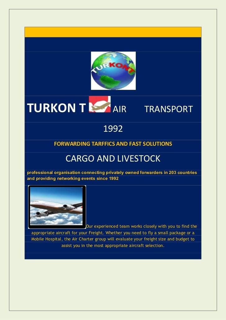 TURKON T                                   AIR             TRANSPORT                                      1992            ...
