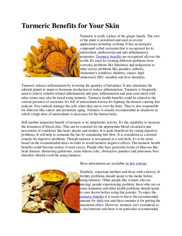 Turmeric benefits for your skin