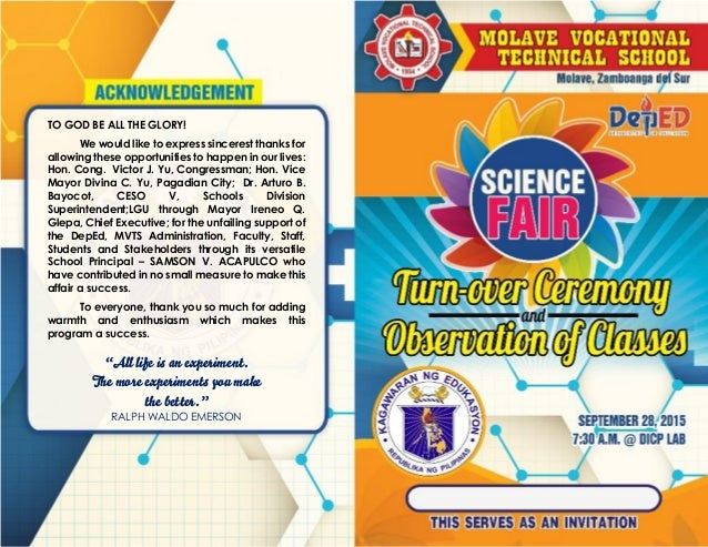 MVTS Science Fair Turn-Over Ceremony 2015