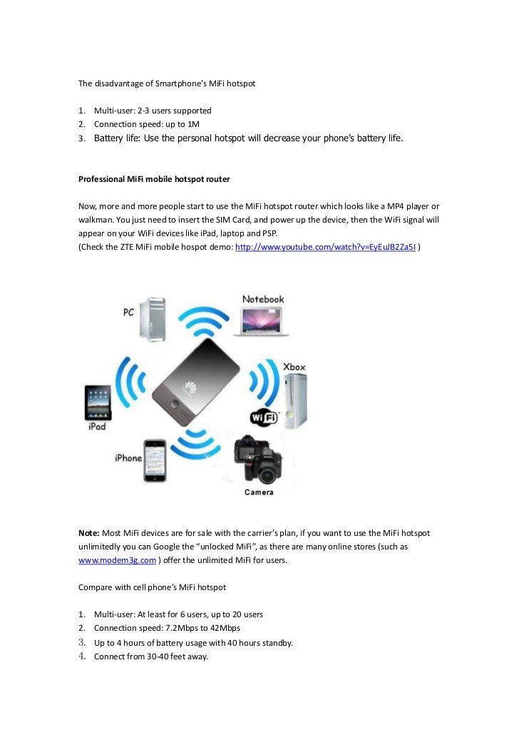 Turn 3 g into wifi with unlocked mifi mobile hotspot (demo)