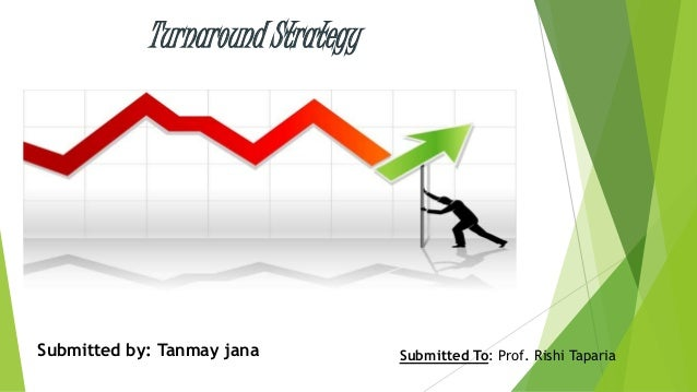 Turnaround Strategy Submitted by: Tanmay jana Submitted To: Prof. Rishi Taparia