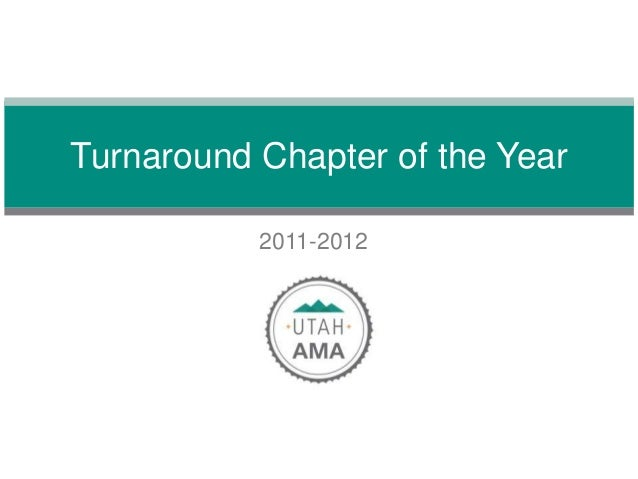 2011-2012Turnaround Chapter of the Year