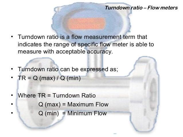Turn-down Ratio of a Flow Meter. Slide 2