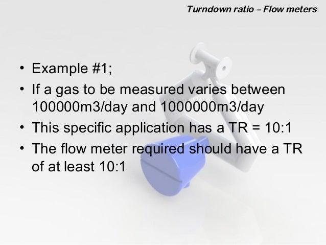Turn-down Ratio of a Flow Meter. Slide 3