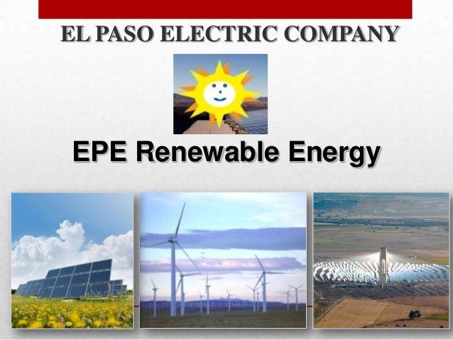 EL PASO ELECTRIC COMPANYEPE Renewable Energy                           1