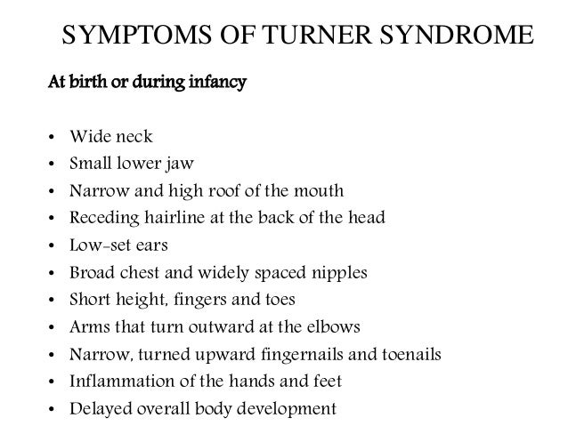 understanding the turners syndrome Turner syndrome (ts), also known as 45,x or 45,x0, is a condition in which a female is partly or completely missing an x chromosome signs and symptoms vary among those affected.