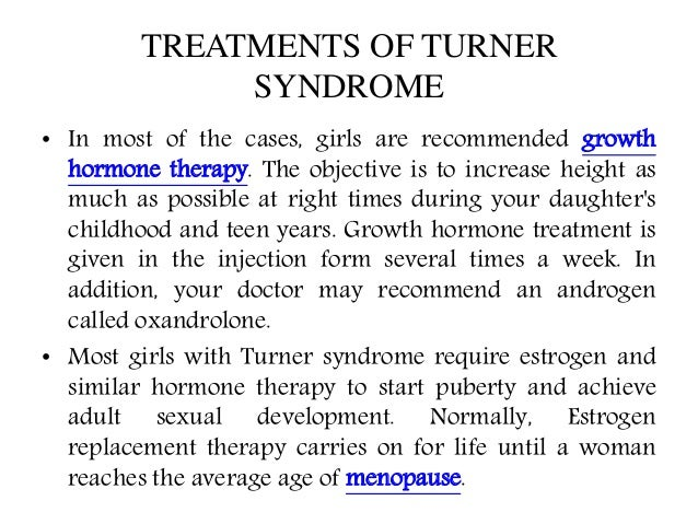the turner syndrome causes symptoms and treatment