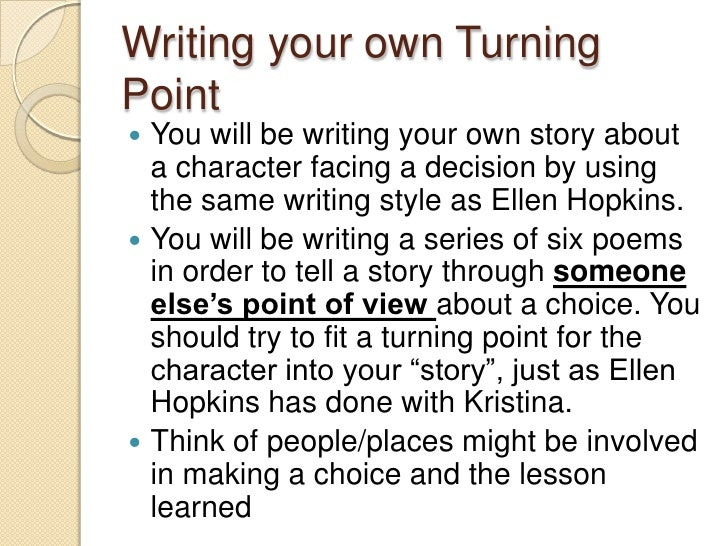 essay turning points Life is all about turning points some people don't embrace them, because they  fear change – but over more than 40 years in business, i've.