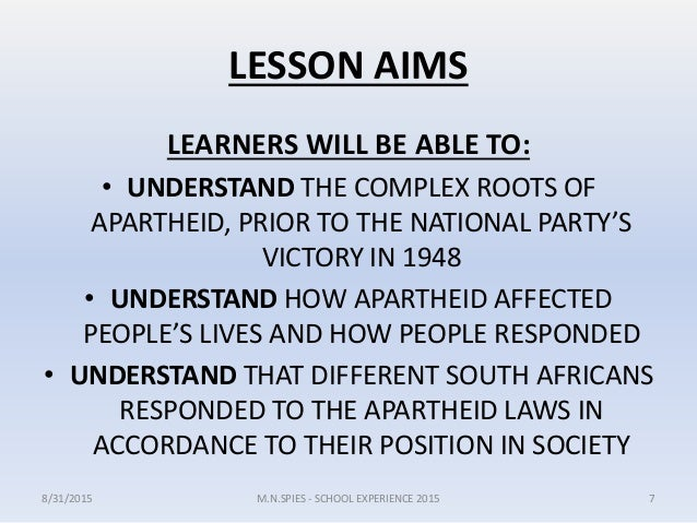 how did apartheid affect education