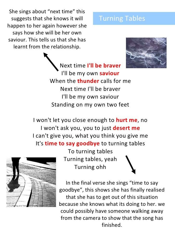 Turning Tables Lyrics