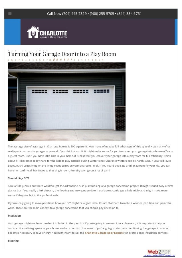 Turning Your Garage Door Into A Play Room