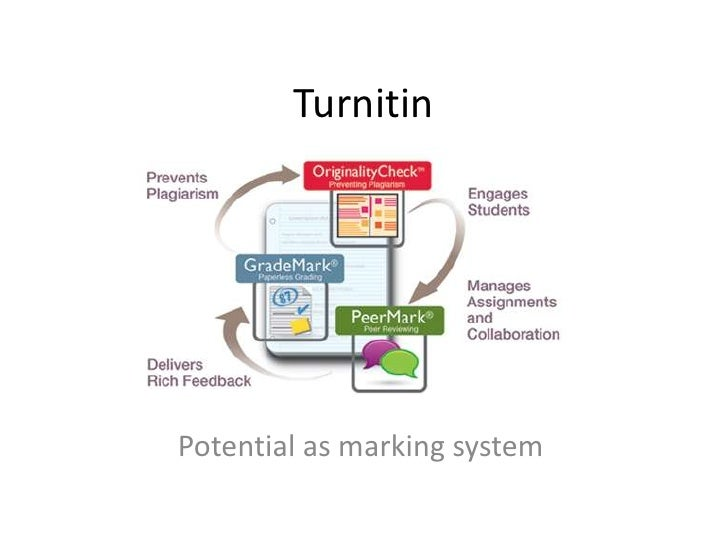 Turnitin<br />Potential as marking system<br />