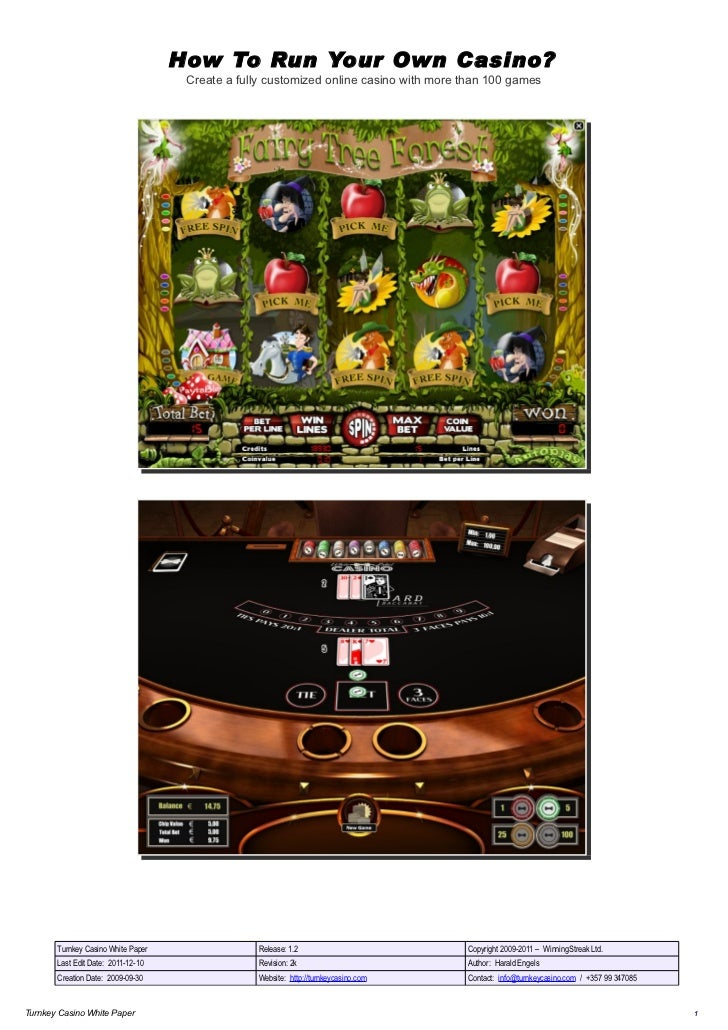 How To Run Your Own Casino?                                     Create a fully customized online casino with more than 100...
