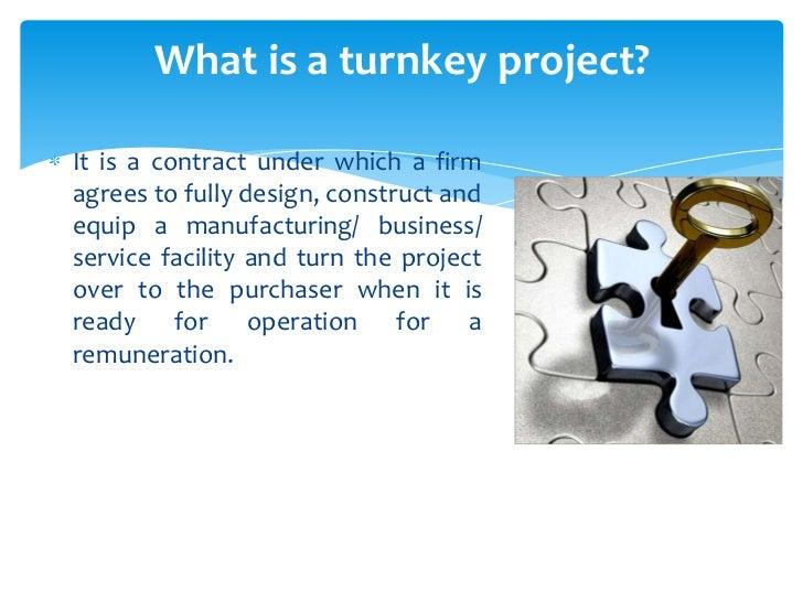 Turnkey project Slide 2