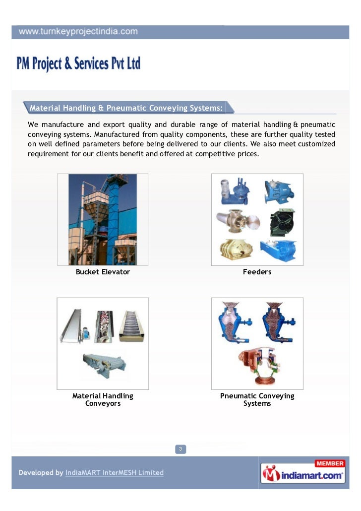 PM Projects & Services Pvt. Ltd., Indore, Material Handling & Pneumatic Conveying Systems Slide 3
