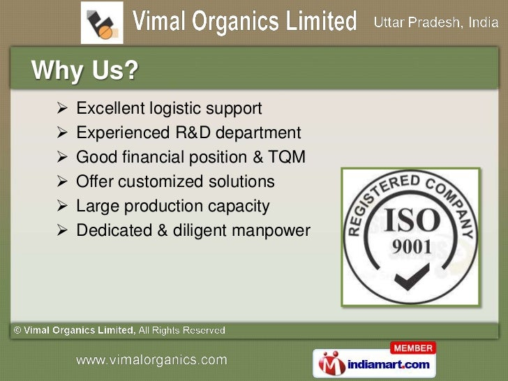 Turnkey Projects for Plants & Equipments by Vimal Organics Limited, Ghaziabad Slide 3