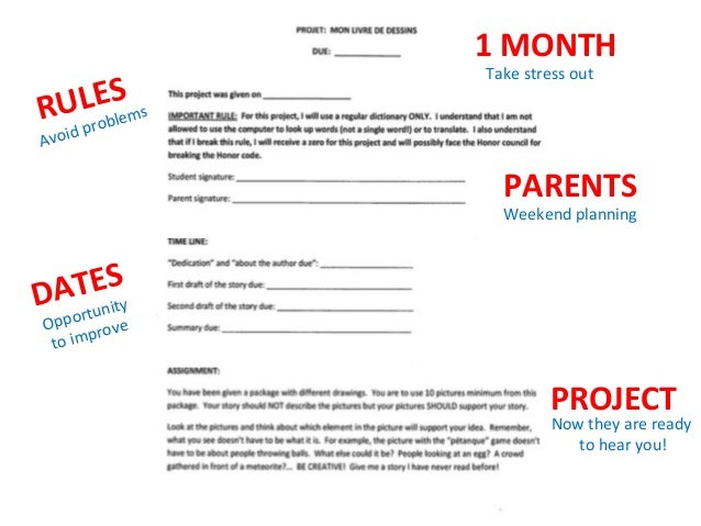 RULES   1  MONTH   PARENTS   DATES   PROJECT   Take  stress  out   Avoid  problems   Weekend  plan...
