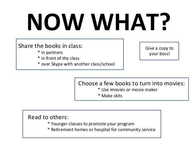 Turn your students into first time authors