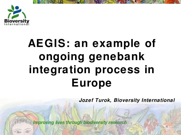 AEGIS: an example of ongoing genebank integration process in Europe Jozef Turok, Bioversity International