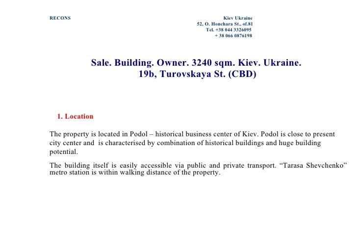 RECONS                                                       Kiev Ukraine                                                 ...