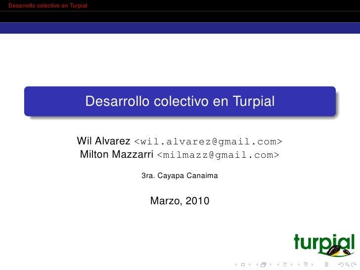 Desarrollo colectivo en Turpial                                   Desarrollo colectivo en Turpial                         ...