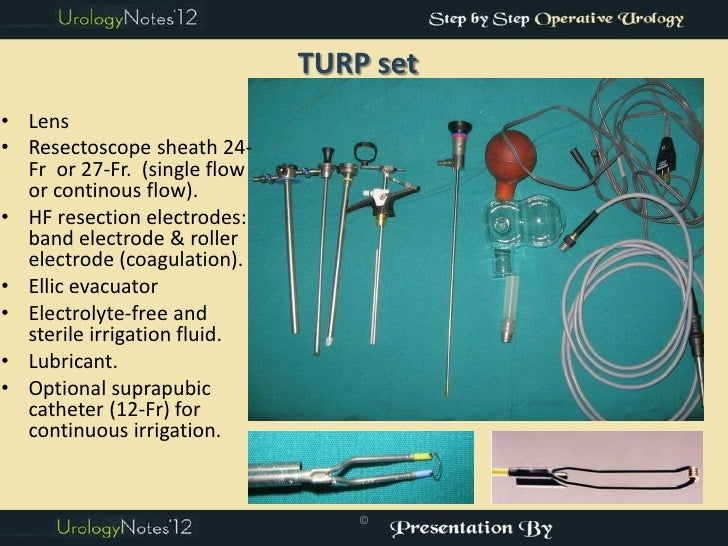 TURP step by step operative urology Slide 2