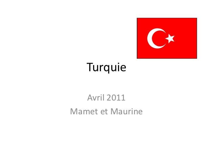Turquie <br />Avril 2011<br />Mamet et Maurine<br />