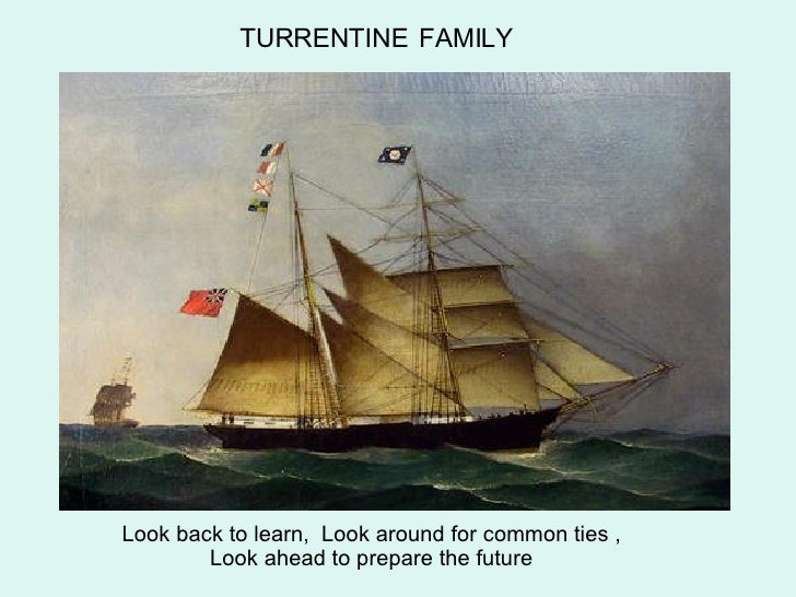 TURRENTINE   FAMILY Look back to learn,  Look around for common ties , Look ahead to prepare the future