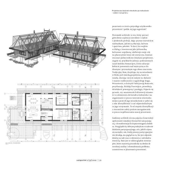 Projektowany budynek mieszkalny po rozbudowie                               – widok i rzut parteru                        ...
