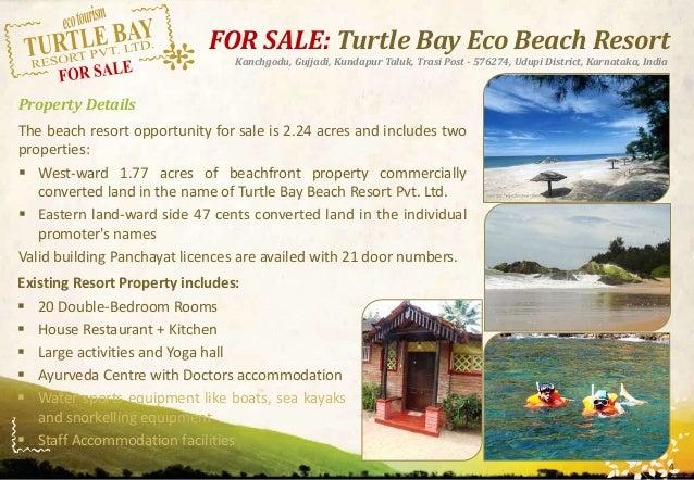 Turtle Bay Beach Resort Karnataka India Sale Brochure V1