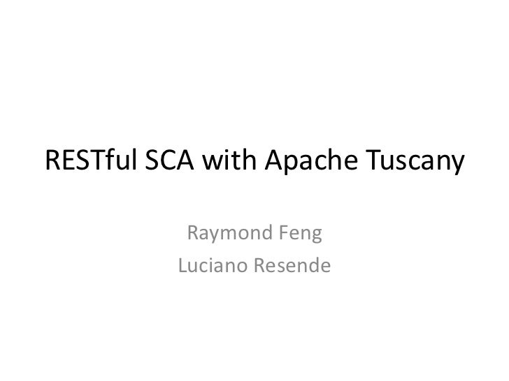 RESTful SCA with Apache Tuscany