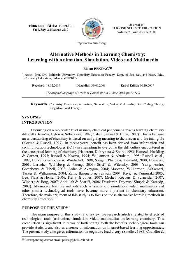 Pekdağ/ TÜFED-TUSED/ 7(2) 2010  N  TÜRK FEN EĞİTİMİ DERGİSİ Yıl 7, Sayı 2, Haziran 2010  111  Journal of TURKISH SCIENCE E...
