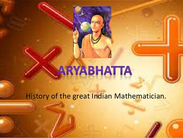 essay on aryabhatta Aryabhata (476–550 ce) was the first in the line of great mathematician- astronomers from the classical age of indian mathematics and indian.
