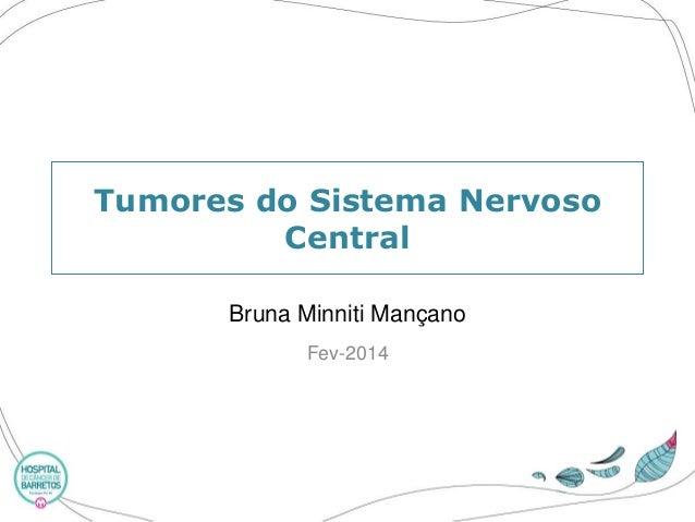 Tumoresdo SistemaNervosoCentral  Bruna MinnitiMançano  Fev-2014