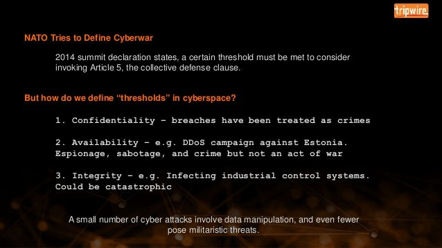 Tripwire University: Cyberwar Boot Camp – Introduction and Overview