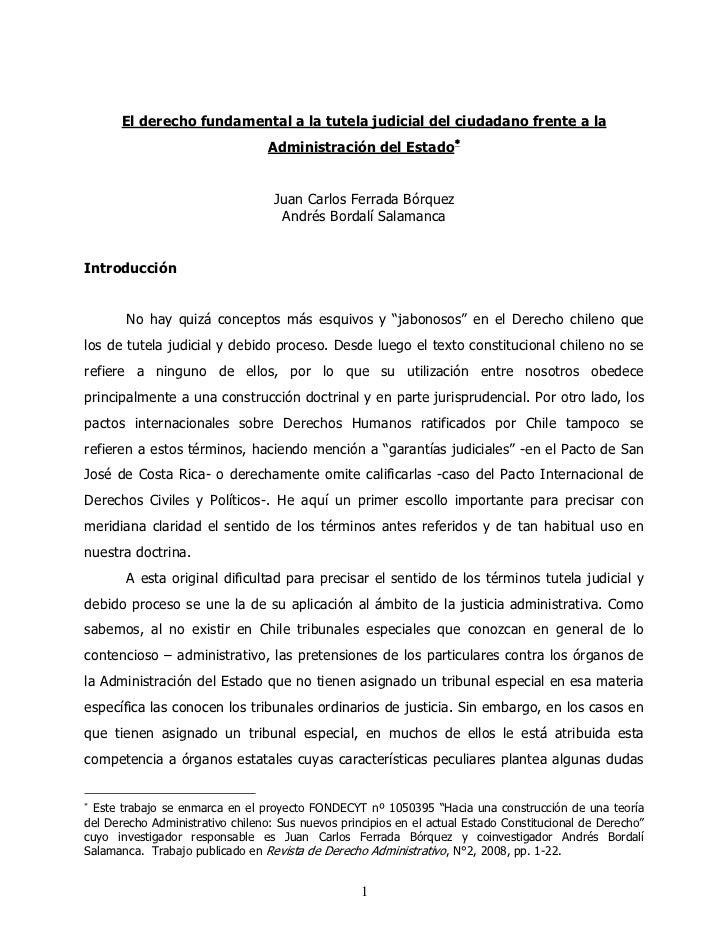El derecho fundamental a la tutela judicial del ciudadano frente a la                                  Administración del ...