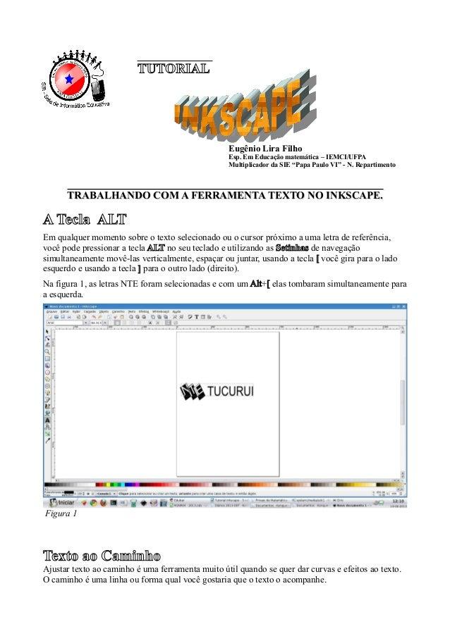 Tutorial Do Cmap Tools: Tutorial Do Inkscape: Ferramenta Texto
