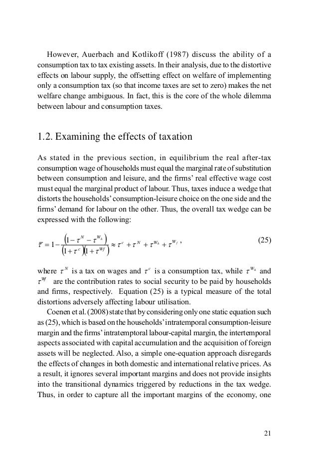 impact of tax essay The impact of tax cuts on economic growth: evidence from the canadian provinces ergete ferede and bev dahlby  tax cuts and economic growth: evidence from canada 567 where k = k/al is capital per effective units of labor and δ is the rate of depreciation.