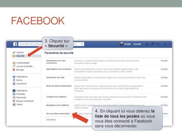 Se déconnecter à distance de Facebook et Google Slide 3