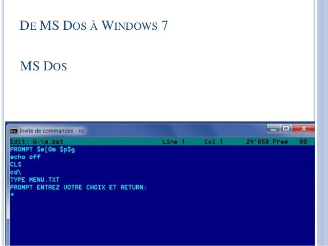 how to go to msdos from windows 7