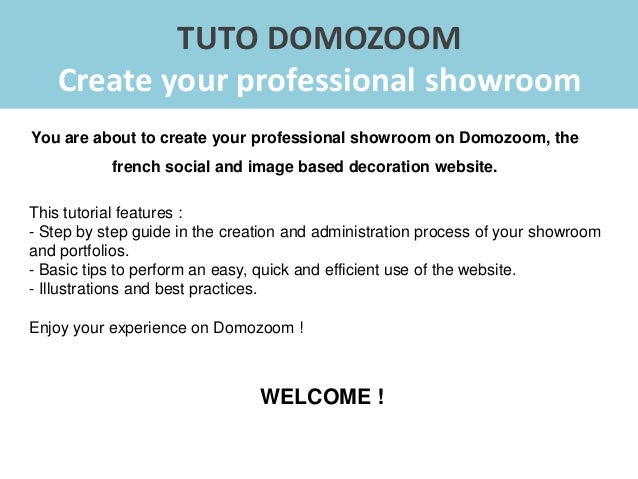 Domozoom tutorial - How to create your showroom Slide 2
